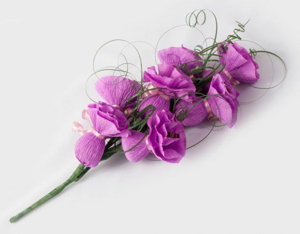 Искуственные цветы из бумаги