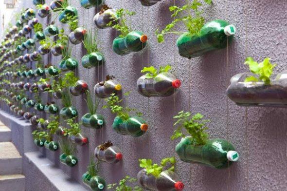 Горшки для рассады из пластиковых бутылок