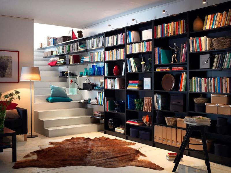 Где хранить книги в маленькой квартире: фото идей