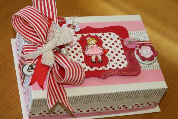 упаковка для подарки из обувной коробки