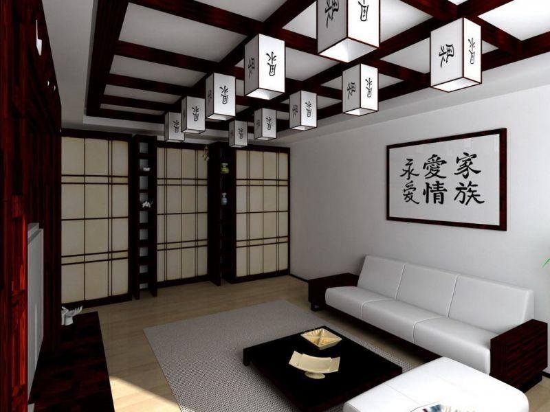 Дизайн однокомнатной квартиры в японском стиле: варианты на фото