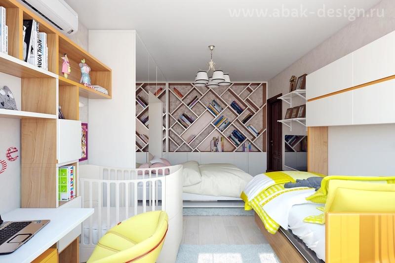 Дизайн небольшой квартиры для семьи с двумя детьми: идеи на фото