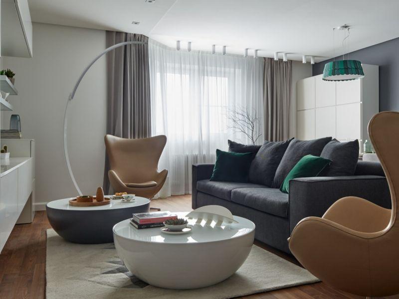 Дизайн однокомнатной квартиры в современном стиле: идеи на фото
