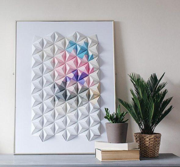 идеи для декора комнаты из бумаги