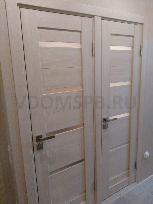Царговые двери, установленные в ванную и туалет