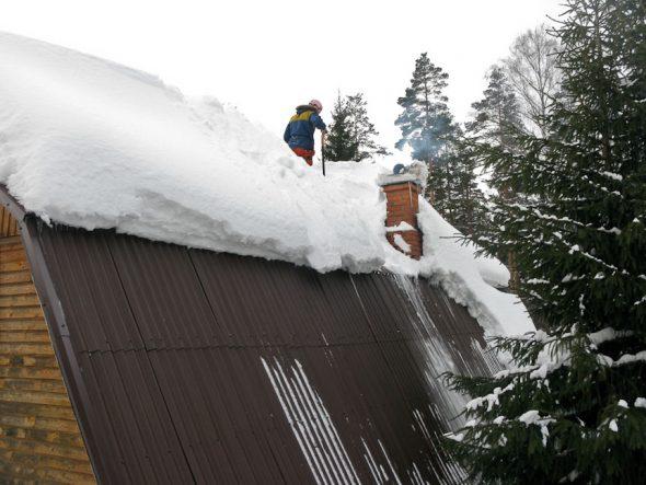 Крыша с большим уклоном