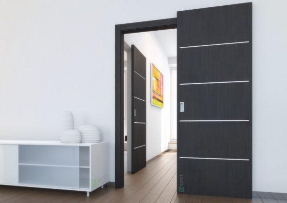 Раздвижная дверь со cкрытой верхней направляющей