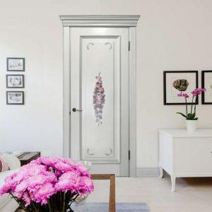 Дверь прованс с цветами