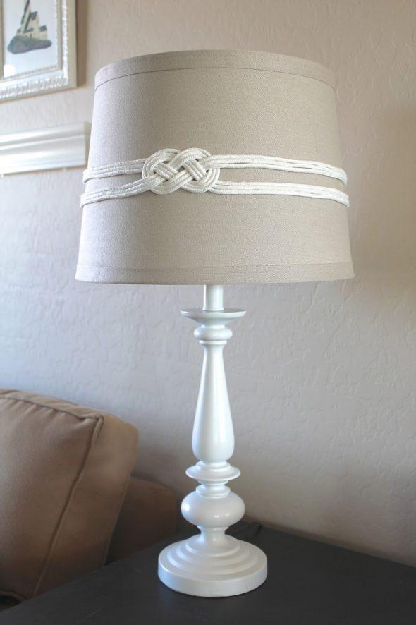 Декор торшера шнурами
