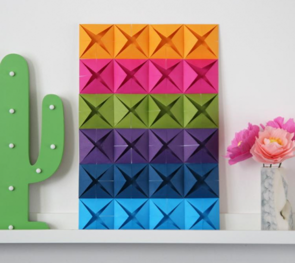 Сложенные бумажные квадраты