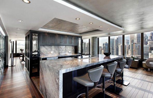 Каменная столешница кухни