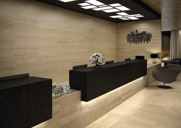 Каменная отделка помещения
