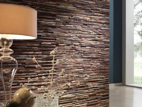 Стильный дизайн интерьера с применением камня