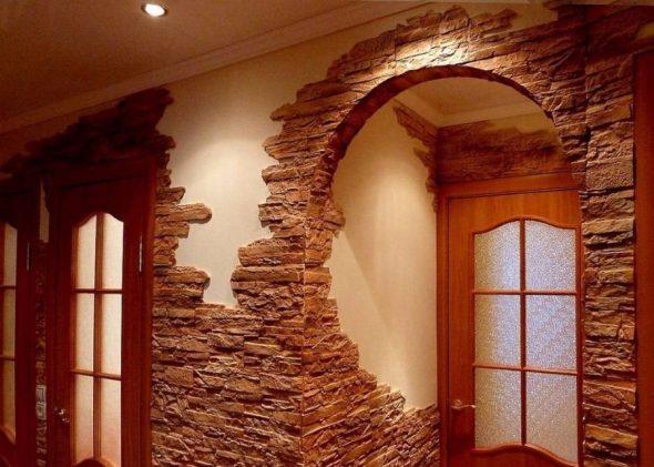Использование камня в интерьере