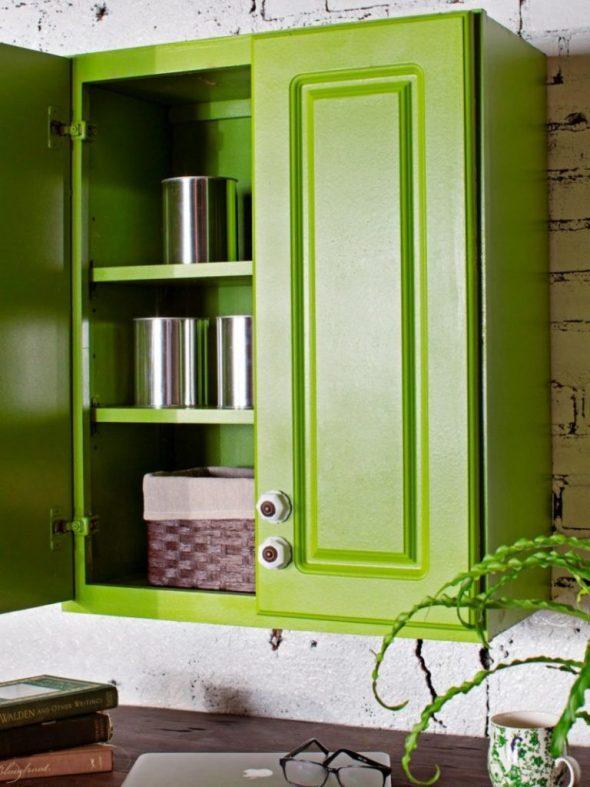 Зелёные кухонные фасады