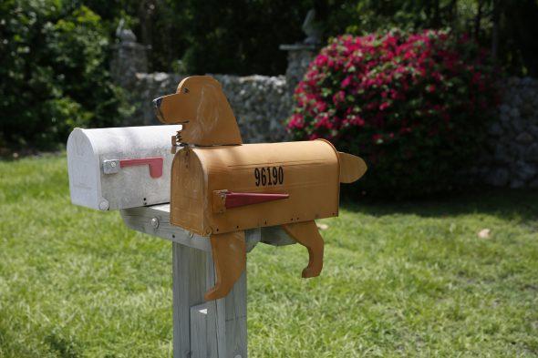 Ящик для почты в виде собаки