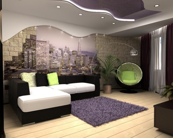 Дизайн зала в хрущёвке