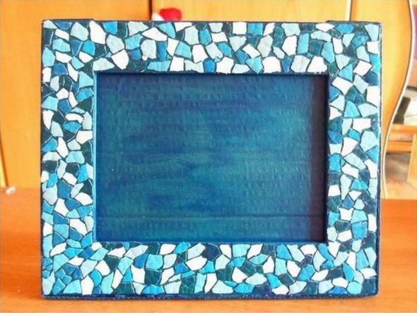 Декорирование картонной рамки