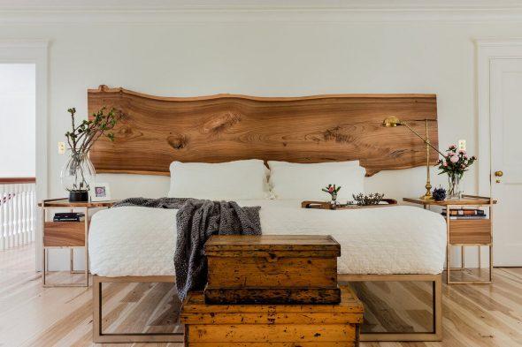 Спальная комната в эко стиле