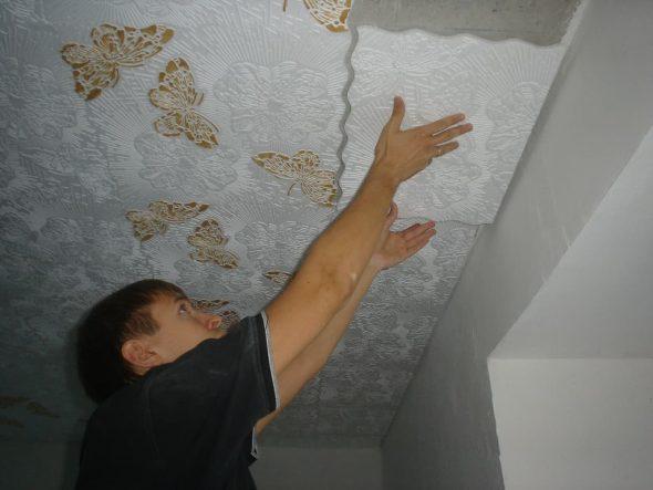 Прикрепление потолочного покрытия