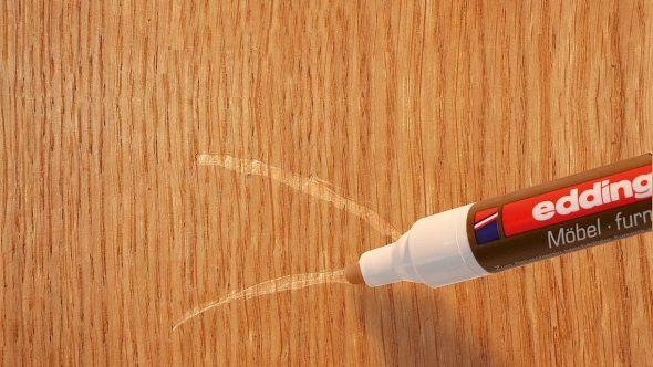 Нанесение специального маркера на полированную поверхность