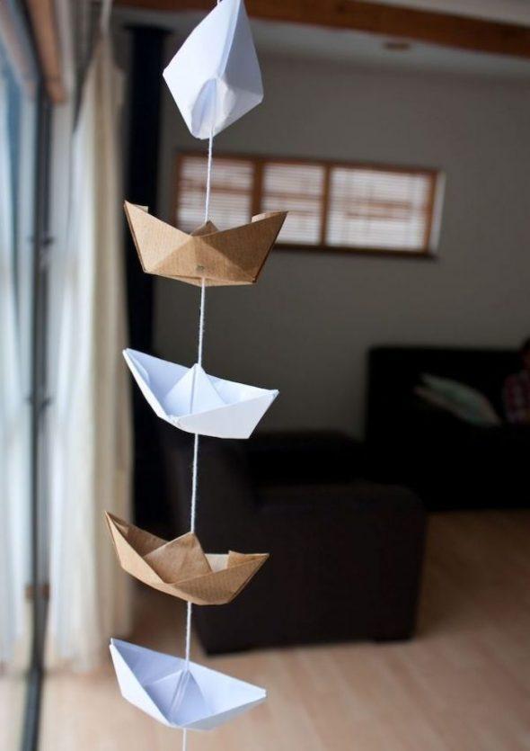 Гирлянда с корабликами