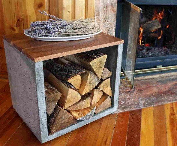 Столик-тумба для дров
