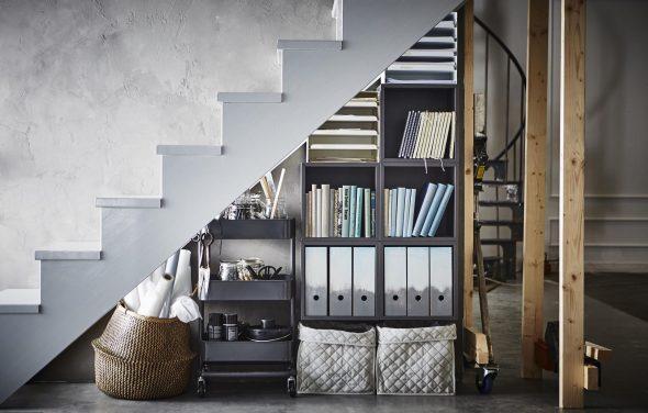 хранение вещей под лестницей