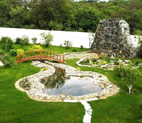 оригинальное оформление сада