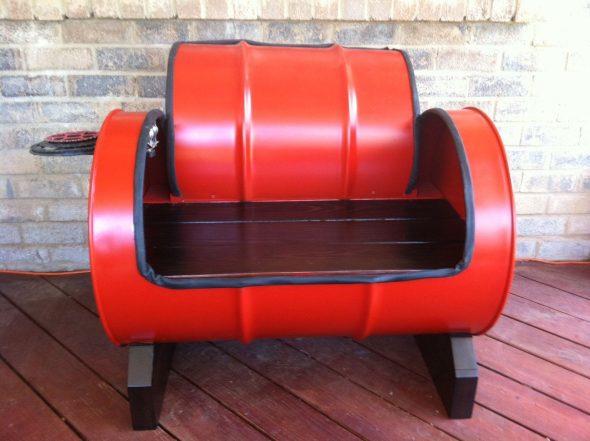 мебель из бочек 200 литров