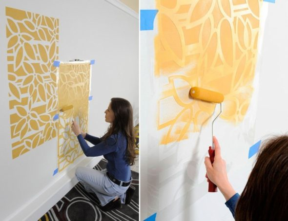как украсить белую стену