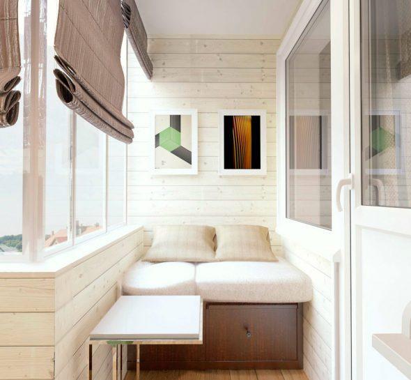 как оформить маленький балкон