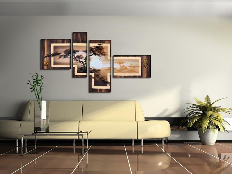 Как правильно повесить модульную картину и не испортить стену