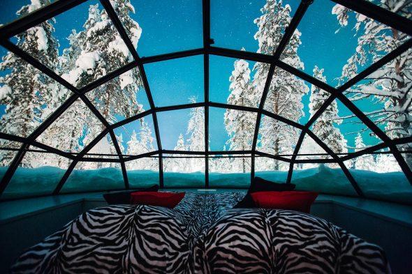 стеклянные домики Лапландии