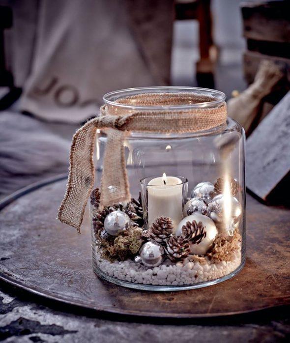 Новогодняя свеча в банке