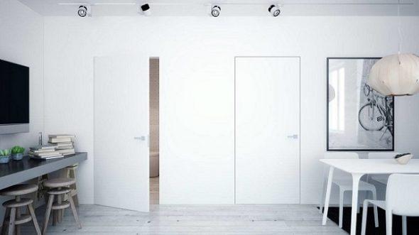 Белые скрытые двери