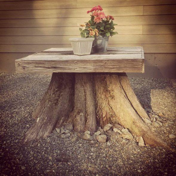 Пень-столик