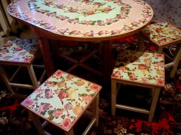 Декор стола в стиле прованс