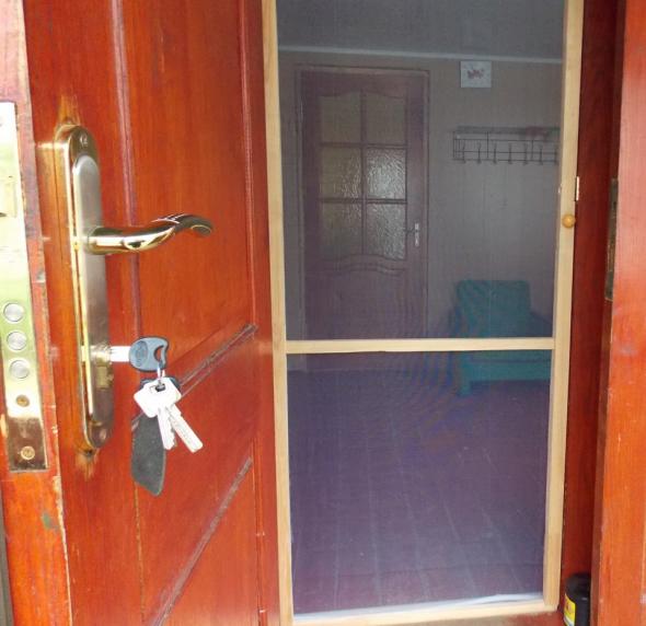 Самодельная москитная сетка для двери