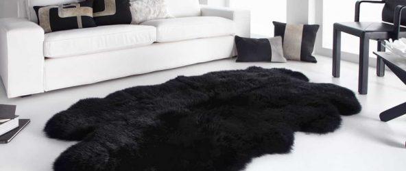 Гостиная с меховым ковриком