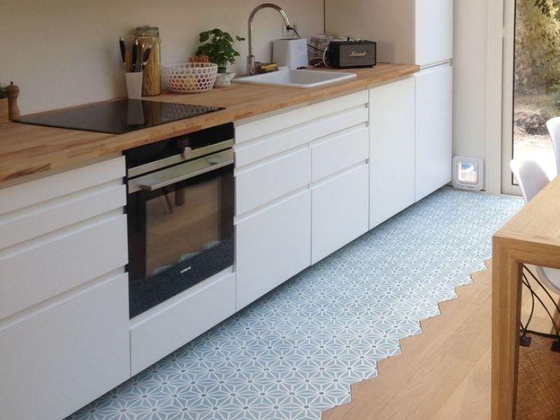 Линолеум и плитка на кухне: примерынеобычных сочетаний