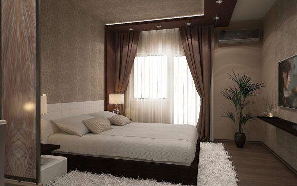 дизайн спальни 4 кв м