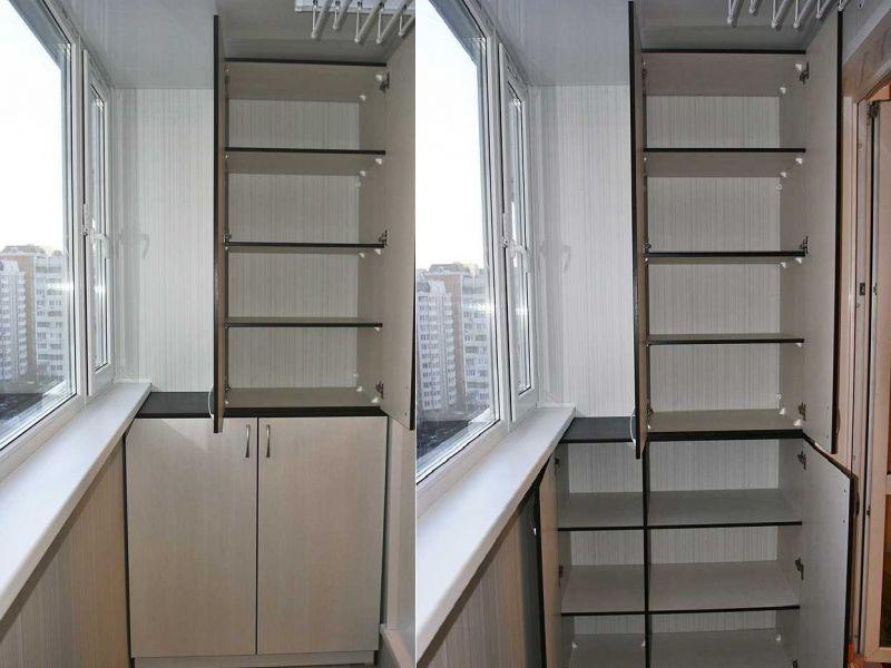 Как сделать шкаф на лоджии своими руками: примеры на фото