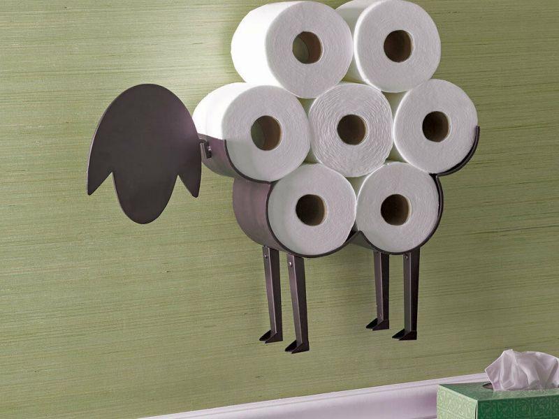 Аксессуары для туалета и ванной: оригинальные фото