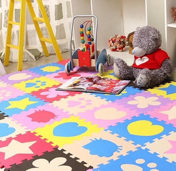Мягкое покрытие в детской комнате: подборка фото и их описание