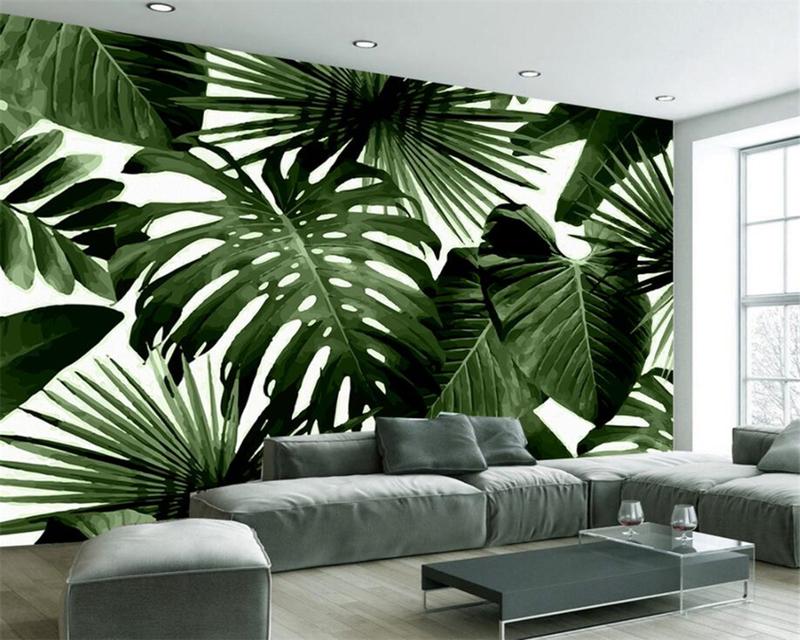 Тропический принт на обоях — вдохновляющая фотоподборка интерьеров