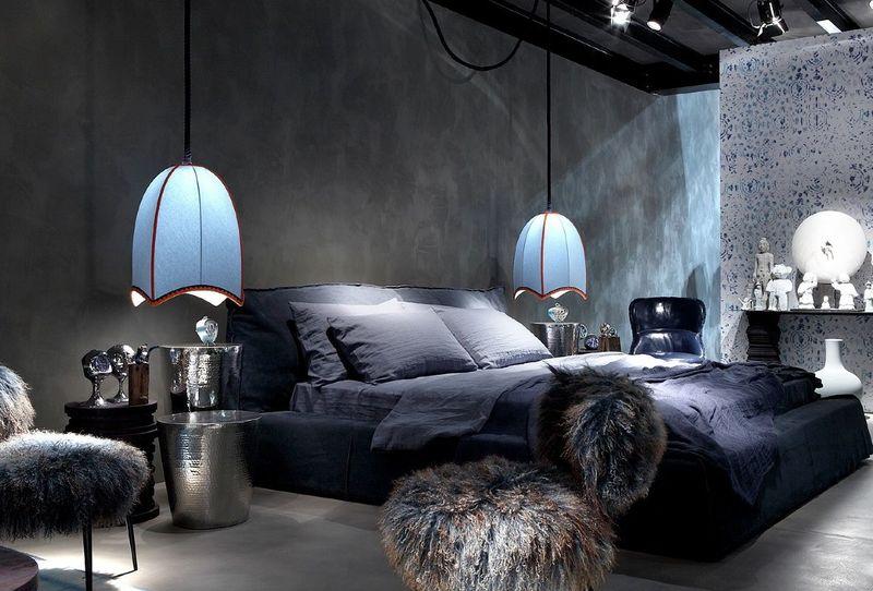 Спальня в тёмных тонах: вдохновляющая подборка фото