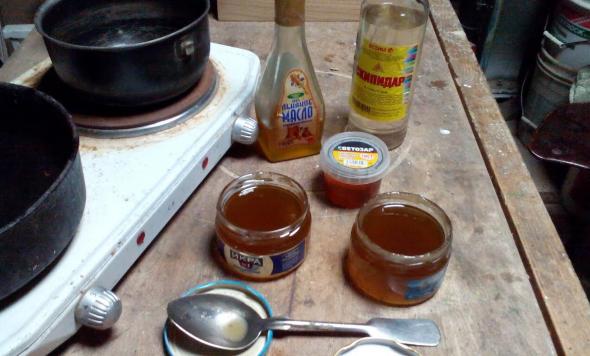 Принадлежности для приготовления олифы