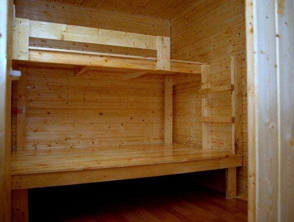 Спальное место в вагончике