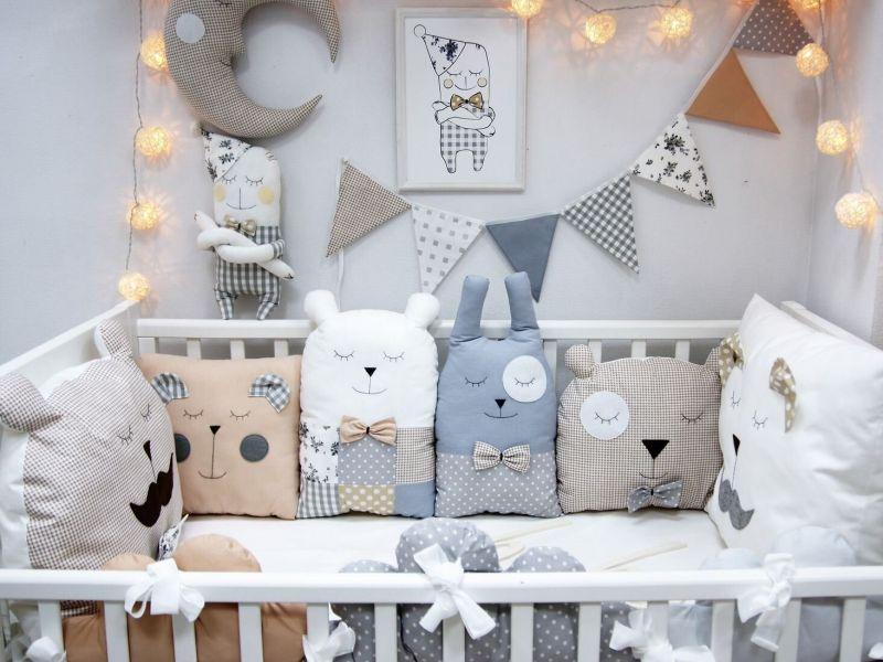 Оформляемкроватку для новорождённого: идеи на фото